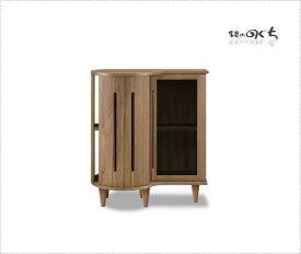 天然木ウォールナット/アルダー材使用の日本製・国産のキャビネット ナチュラルなレッドオーク材も制作できます棚付き 突板・無垢材使用・エコ仕様仕上げ組み合わせ