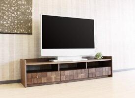 天然木ウォールナット&ブラックチェリー無垢材使用テレビボード・テレビ台セミオーダーメイドTV台国産・日本製レグナテック2素材3サイズから選べます