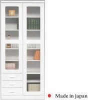 【開梱設置無料】本棚書棚キャビネット飾り棚ブックシェルフ木製幅80cmフリーボードホワイト送料無料05P12Oct14