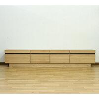 テレビ台ローボードテレビボード幅210cm高さ40cm選べる2色オークウォールナットアルダー無垢材使用木製リビング収納北欧風シンプルモダンでおしゃれなデザイン完成品