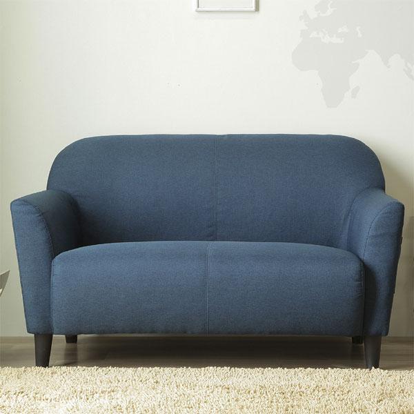 ソファ 2Pソファー 2人掛け 布張り ファブリック 選べる ブルー ピンク 北欧 シンプル モダン 送料無料 ワンルーム 一人暮らし 新生活 1K