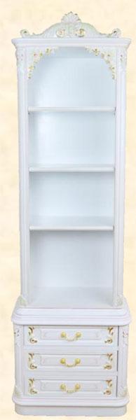 本棚書棚フリーボードシェルフキャビネットアンティーク調幅60cmホワイトMDFクラシック送料無料