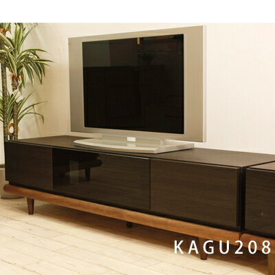 【国産・日本製】160cm幅テレビボード ウォールナット無垢 アジアン家具 ローボード AVラック AV収納 木製 天然木ビヨン160テレビボード 前面ガラス(ダークブラウン)