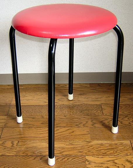 【送料無料】丸いす (赤)10脚セット 日本製 丸イス 丸椅子 スツール パイプイス完成品 組立不要 国産