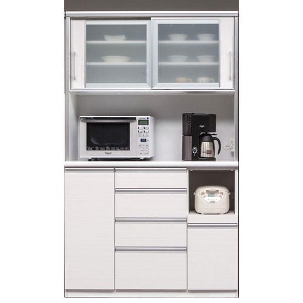 食器棚 引き戸 レンジ台完成品 120cm幅開梱設置 送料無料 「カプリス」