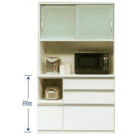 レンジ台 家電収納 120cm幅用 食器棚 引き戸 完成品 国産開梱設置 送料無料