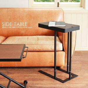 ソファサイドテーブル ベッドサイドテーブル おしゃれ 北欧風 アンティーク風 ウォールナット突板 木製 高さ60cm 高さ70cm スチール脚 収納付き 人気 おすすめ