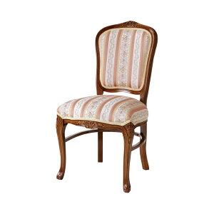 ダイニングチェア 1脚 猫脚 椅子 アンティーク エレガント ヨーロピアン ロココ調 装飾 彫刻 家具 高級家具 ブラウン 茶 天然木 送料無料 SA-C-1175-B5
