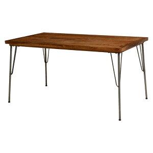 ダイニングテーブル(テーブルのみ) 幅140 木製 鉄 脚 アイアン おしゃれ シンプル 男前インテリア 北欧 ウッディー 送料無料 新生活 RKT-2943-140