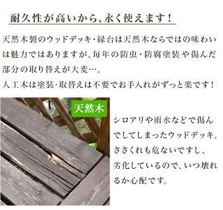 人気で高級感のある銘木チークに似せました人工木デッキ木目おしゃれベンチ代わりの休憩のスペースに