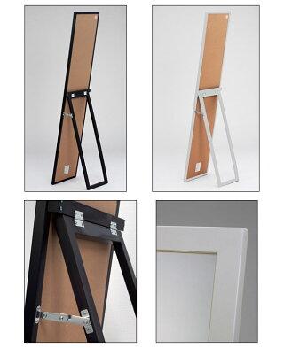 鏡面スタンドミラーMS-33L送料無料おしゃれスタイリッシュ木製薄型通販北欧テイストAWL