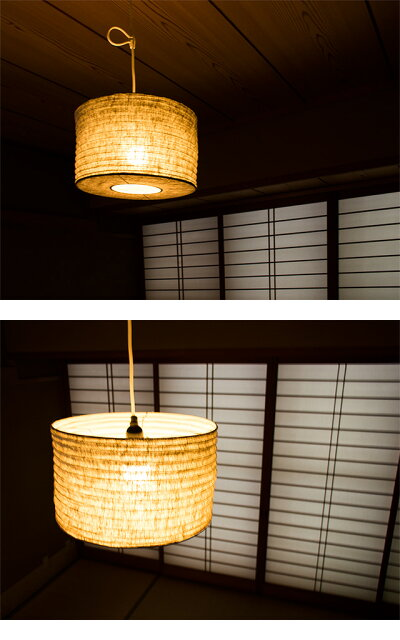 ペンダントライト和風モダンリネンデザイン照明インテリア照明デザインライトインテリアライトムードライト電気和室和モダンおしゃれLuCercaLolomini