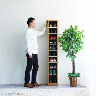 下駄箱幅28高さ170奥行33ホワイト/ナチュラル/ブラウン木製完成品日本製オフィス収納オープン下駄箱大容量10足収納スリム約30cm幅シューズボックス靴箱Fフォースター業務用シューズボックス抗菌仕様洗えるプラスチック棚白茶木製施主支給
