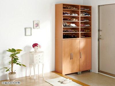 シューズラックおしゃれツードアシューズボックス靴の高さに合わせて棚の位置を調節できるハイヒールやショートブーツなども収納可能
