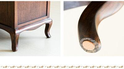 クラシック北欧エレガント優雅ウェール4段チェスト木製リビングボード木製キャビネット猫脚ファックス台