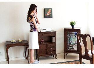 アンティーク調FAX台チェスト電話台エレガント優雅キャビネット英国スタイルのアンティーク調デザインがお部屋を華やかに引き立てます