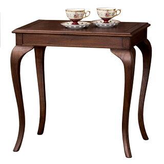 アンティーク調ロココ調ダイニングテーブル木製スクエアテーブル木製コーヒーテーブル猫脚ネコ脚アンティーク調テーブルおしゃれクラシック優雅エレガント茶ブラウン
