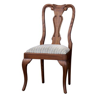 チェアーヨーロピアン風アンティーク調ロココ調ダイニングチェアー木製チェア木製椅子イス猫脚チェアネコ脚チェアーアンティーク調チェアーおしゃれクラシック優雅エレガント茶ブラウン