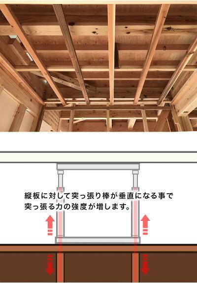 スクエア正方形ラック専用天井突っ張り器オープンラック用パーツ間仕切りディスプレイシェルフ用部品スクエアラックが突っ張りラックになる安定感あるオシャレおしゃれ