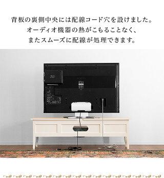 ゴージャスでエレガントなアンティーク調テレビボード天然木テレビ台ヨーロピアン上質アンティーク調家具
