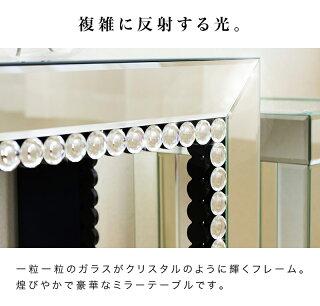 テーブルミラーテーブルミラー鏡鏡台ドレッサーコンソールコンソールテーブルコンソールデスクミラーデスクデスク花台ガラステーブルロイヤルモダンミラーモダンミラー玄関寝室リビング花瓶台エレガント幅100