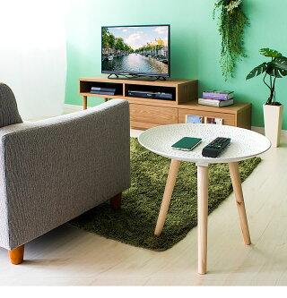 サイドテーブルスマホテーブル北欧おしゃれ木製ベッドナイトテーブル丸ソファテーブル44cmサイドソファソファーテーブル円形丸型天然木製テーブルコンパクトナチュラル小さいリビングウッドコーヒーテーブル