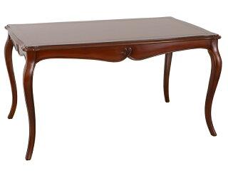 おしゃれなアンティーク風のダイニングテーブル木製ヨーロピアン