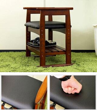 チェア肘付きチェア手すり付きの玄関ベンチやキッチンチェアとして便利な機能的チェアー