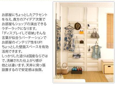 日本製突っ張りNEWラダーラック幅66cm店舗用薄型間仕切りパーテーションパーティション衝立ハンガーラック壁面収納ハンガーポール国内生産国産