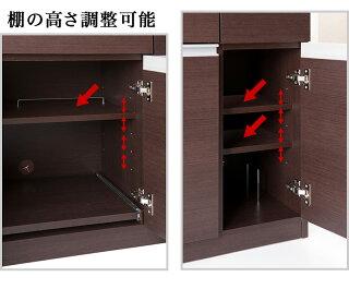 キャビネット型デスク日本製完成品スタイリッシュ仕上げ詳細サイズ内部構造