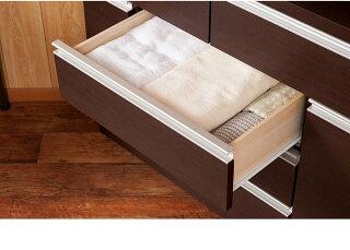 シンプルコーナー用チェスト白ホワイト茶ブラウン日本製完成品
