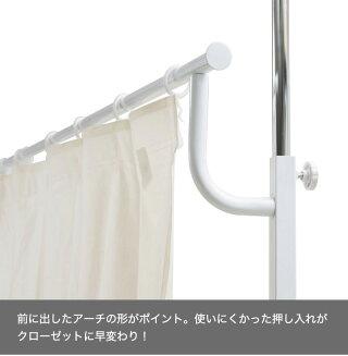 押入れをクローゼットに仕様にプチリフォームできる突っ張り式カーテン