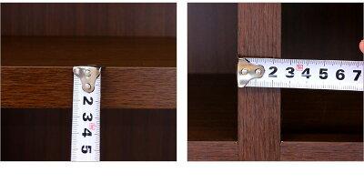 強化書棚筋肉シェルフ60cm幅ダークブラウン本棚書庫ブックラックフリーラックオープンラックマガジン雑誌ラックブックシェルフ/木製/通販/送料無料