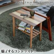 サイドテーブルYOST-550天然木木目が美しい北欧デザインウォールナットバーチピーチマコレ