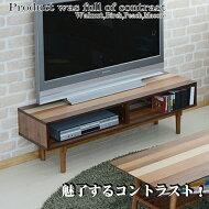 テレビ台YOTB-120天然木木目が美しい北欧デザインウォールナットバーチピーチマコレ