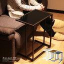 【スーパーSALE期間ポイント5倍!】サイドテーブル リミニ キャスター付き ミニテーブル パソコン 台 ベッド ソファ テーブル 天板 木製 ガラス スリム ナイトテーブル 脚 キャスター アジャスター 高さ調節 高さ59 北欧 ブラウン ブラック ホワイト RI-S6
