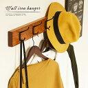 ウォールハンガー ハンガーラック おしゃれ アイアン 天然木 4連 木製 ネジ付属 壁 ハンガー ウォールラック 什器 店…