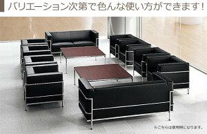 受注生産品応接セット4点セットソファセットビニールレザー張り4人掛け用AICO製:ゴーンシリーズ送料無料新品オフィス家具