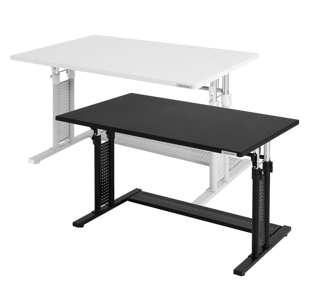 エントリーでポイント10倍! バウヒュッテ PCデスク 昇降式PCデスク(58〜80cm)ワークデスク テーブル Be's製:Bauhutteシリーズ 送料無料 W1000xD600xH590 BHD-1000M 新品 オフィス家具