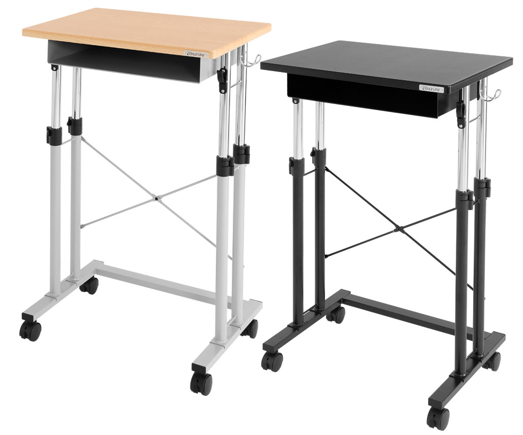 エントリーでポイント10倍! スタンディングデスク スクールデスク 昇降機能付き ロック付きキャスター スタンディングテーブル ワークテーブル Be's製:Bauhutteシリーズ 送料無料 W639xD400xH700 BHD-600H 新品 オフィス家具