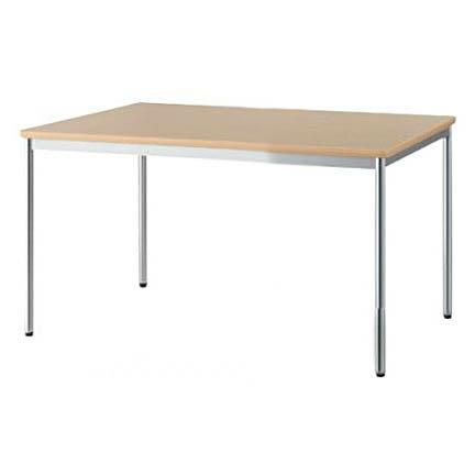 ミーティングテーブル W1200×D750 丸パイプ・クロームメッキ脚タイプ 会議 ミーティング 机 テーブル デスク 事務 オフィス用 アイリスチトセ製:SOTシリーズ W1200xD750xH700 T-CSOT-1275M 新品 オフィス家具 ご奉仕価格! 期間限定 4本脚タイプ