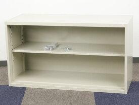 オープン書庫 2段 可動棚 オフィス ファイル収納 書棚 ダイシン工業 DSK製 W900xD350xH500 3SR-05N アウトレット オフィス家具 3台限り 未使用品 上置き