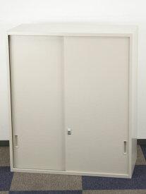 引き違い書庫 上置用 引き戸書庫 スライド戸 スチール扉 書類収納 ベースなし 上置き用 コクヨ製 W900xD450xH1050 UH-N12F1NT アウトレット セット オフィス家具 未使用品 鍵付