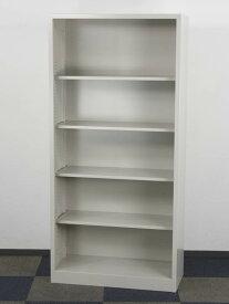 オープン書庫 5段 スチール書庫 書棚 収納庫 A4対応 保管庫 オープンタイプ スチール書庫 未使用 中古書庫 コクヨ製 W880xD400xH1850 SH-K370F1C アウトレット オフィス家具 ご奉仕価格!