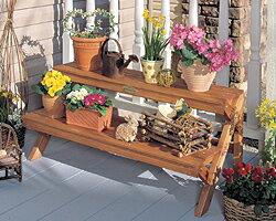 木製フラワースタンドGD-900 ベランダガーデニング インテリア 鉢植え スタンド ベランダガーデニング アイリスオーヤマ 新生活