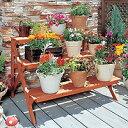 木製フラワースタンドGD-903 ベランダガーデニング インテリア 鉢植え スタンド ベランダガーデニング アイリスオーヤ…
