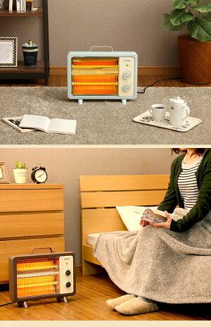 電気ストーブ小型おしゃれアイリスオーヤマEHT-800D-C暖房電気ストーブ遠赤外線ヒーターあったかコンパクト小型おしゃれオシャレレトロスタンド転倒時安全装置アイボリーグリーンブラウン【D】新生活