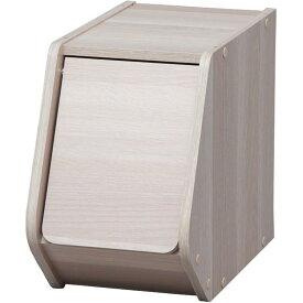 収納ボックス おしゃれ オープンラック アイリスオーヤマ 2個セット スタックボックス 扉付き 幅20cm 収納ケース 木製ラック 前開き アイリスオーヤマ STB-200D・ナチュラル×2個・ブラウン×2個・ナチュラル1ブラウン1【D】 新生活 一人