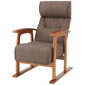 座椅子 クレムリン キング高座椅子 THC-106 ブラウン【ソファ ソファー 一人掛け リクライニングソファ リクライニングソファー リラックスチェア リクライングチェアー 1人掛けソファー オットマン付き 椅子 いす】【TD】【取り寄せ品】 新生活