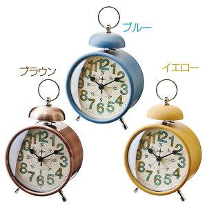 [15日20時〜4時間P10倍]置き時計 Compass コンパス CL-9592 BL ブルー・BR ブラウン・YE イエロー【TC】【置時計 時計 置き時計 おしゃれ 北欧 アンティーク かわいい クロック 目覚まし時計 北欧】 新